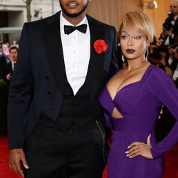 Carmelo and LaLa Anthony in Cushnie et Ochs