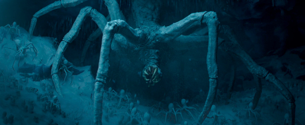 the giant kryka ice spider in the mandalorian