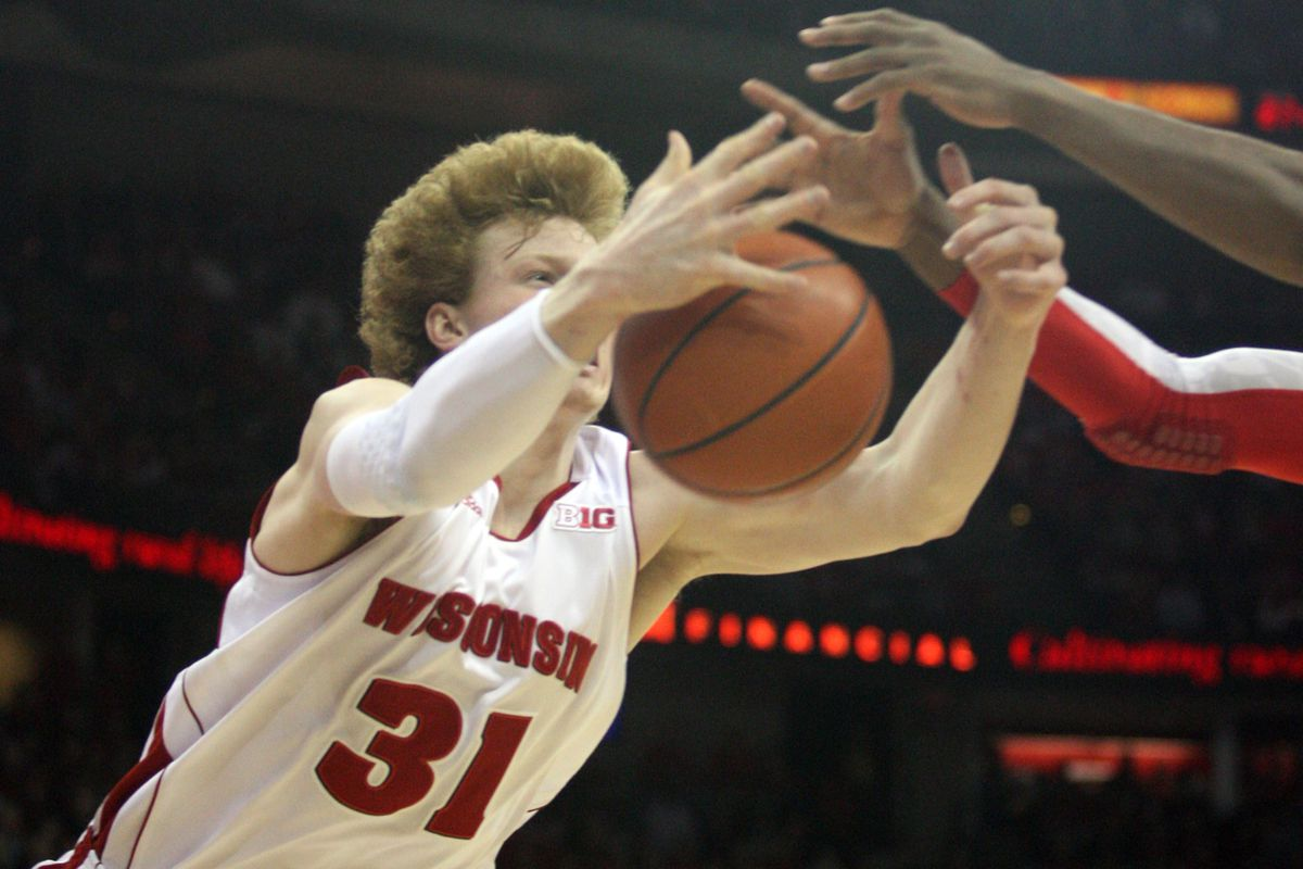 Mike Bruesewitz is one of three senior forwards cleaning the glass with fervor this year.