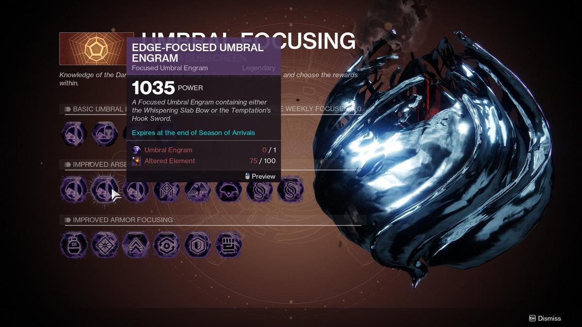 Destiny 2 Umbral Focusing