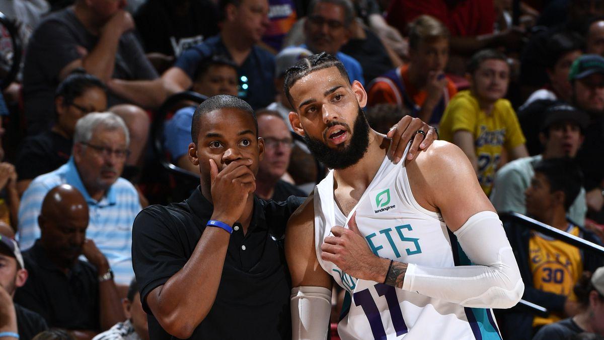 factory price 97d34 d75b0 2019 Las Vegas Summer League - Day 3 - San Antonio Spurs v Charlotte Hornets