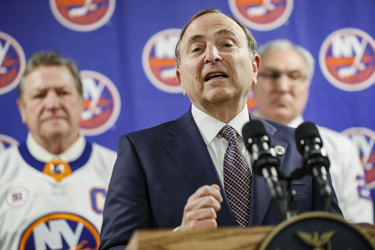 """""""We barred all travel outside of North America for business purposes,"""" NHL commissioner Gary Bettman said."""