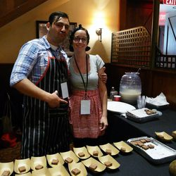Laura Sawicki, also of Cochi Superstar, with her boyfriend Mike Diaz, who is the chef at Elizabeth Street Cafe.