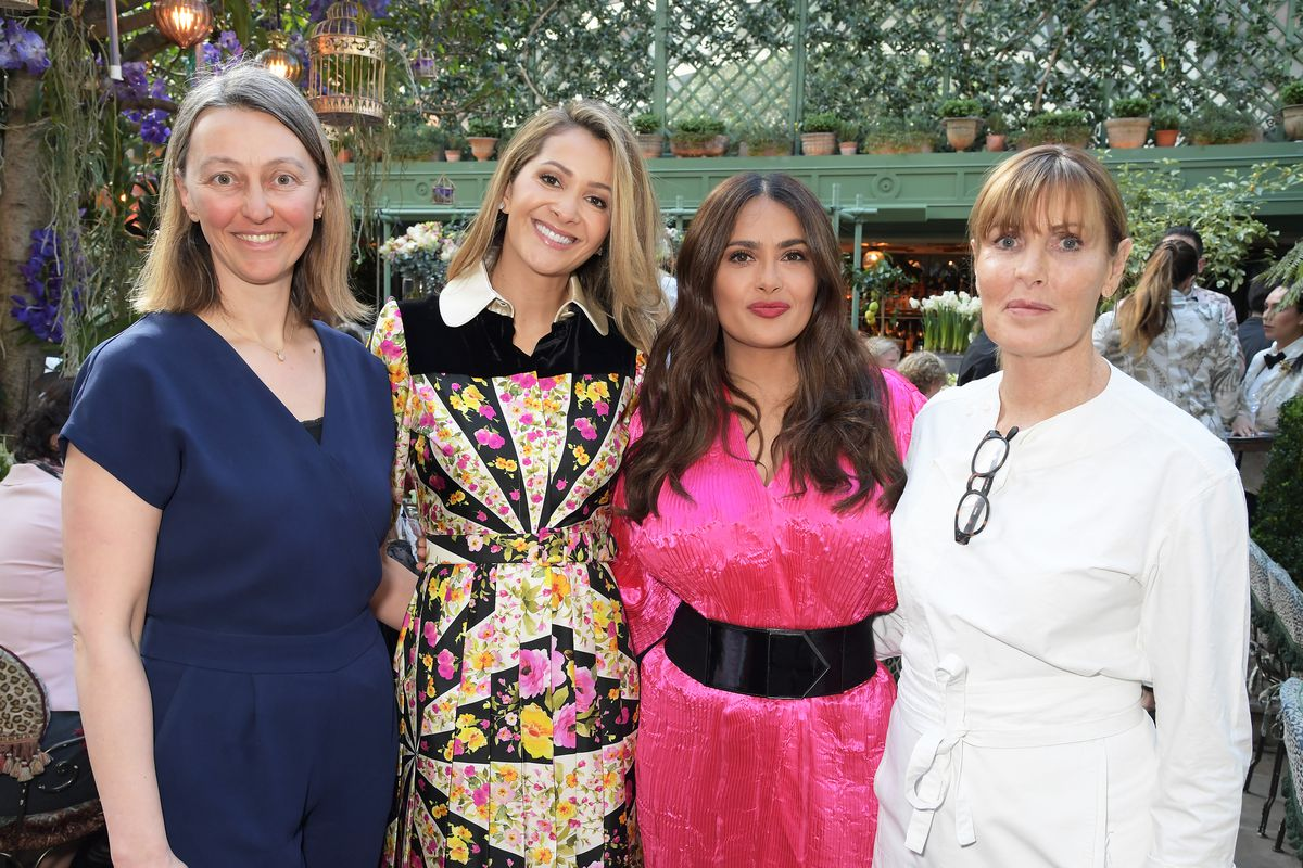 International Women's Day for The Caring Foundation At Annabel's With Salma Hayek