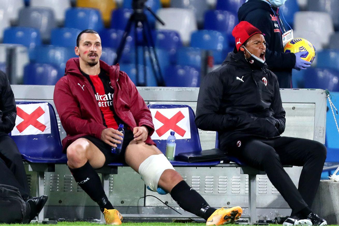 AC Milan Striker Zlatan Ibrahimovic Picks Up Injury Against Napoli