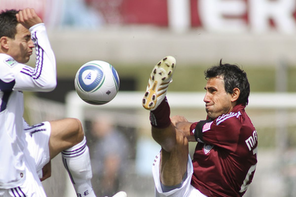 This is how long it's been since the Fire won in Colorado - this photo is from 2010, the beginning of the winless streak. The guy on the left's in Seattle; the guy on the right's managing the Rapids.