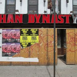 Outside Philly-import Han Dynasty, opening soon on Third Avenue in the EV. [Photo: ~ENY~]