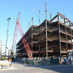 Sun 4:00 p.m. Another view of the plaza office building from Waveland and Clark -