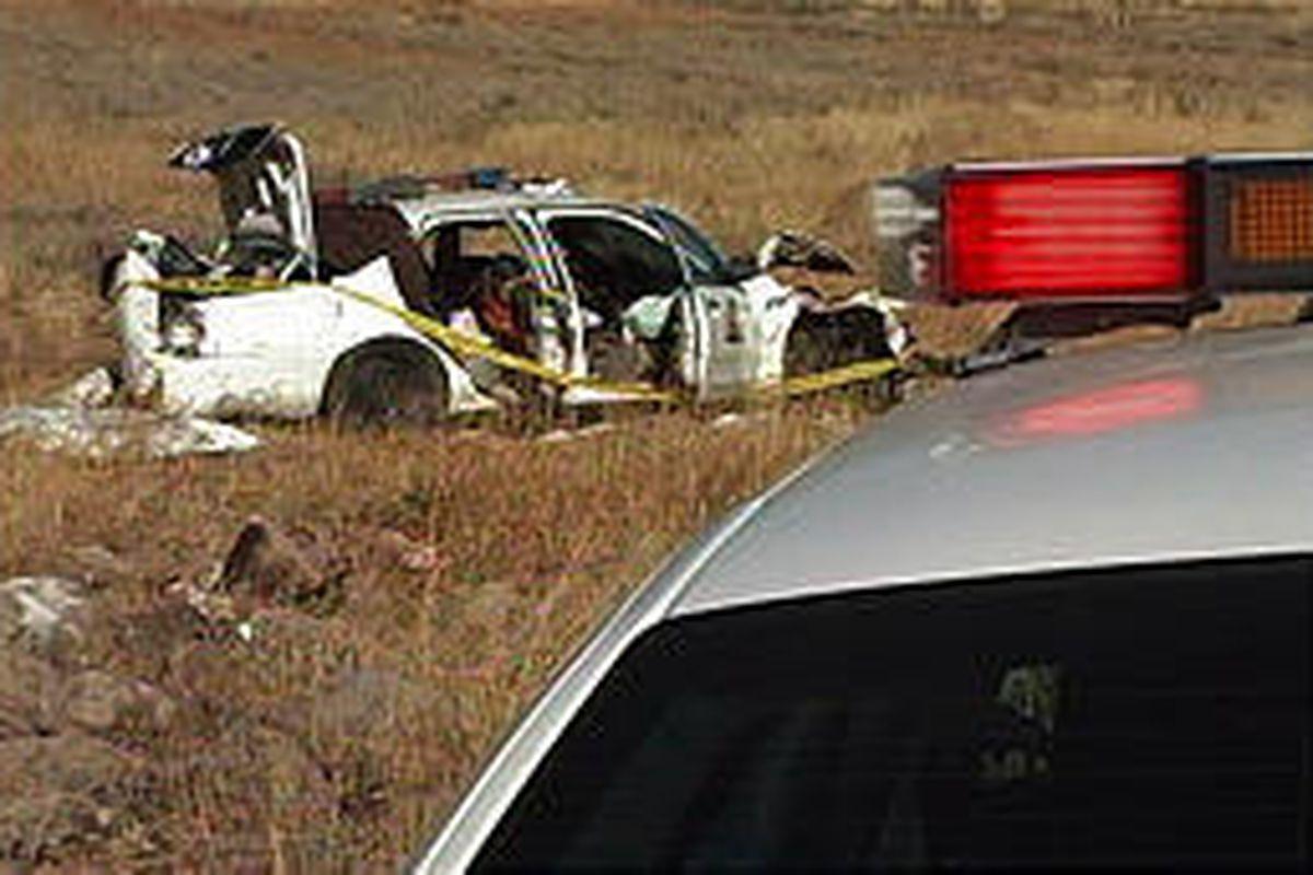 Trooper Jeff Bigler was hurt in crash on U-41. Speeding biker escaped.