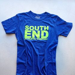 """<strong>South End Athletic Company</strong> Royal/Neon Tee at SEAC, <a href=""""http://goodsie.com/store/heartbreakhillrunningcompany/seac-royalneon-t"""">$28</a>"""