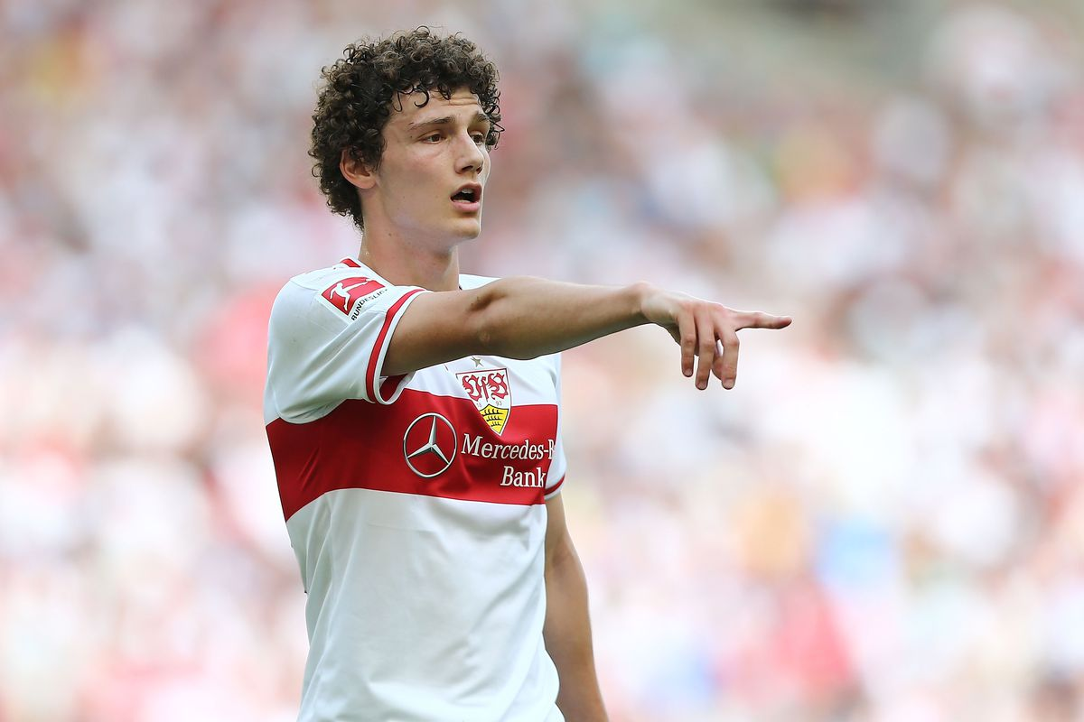 Stuttgart Germany May  Benjamin Pavard Of Stuttgart Gestures During The Bundesliga Match Between Vfb Stuttgart And Tsg  Hoffenheim At