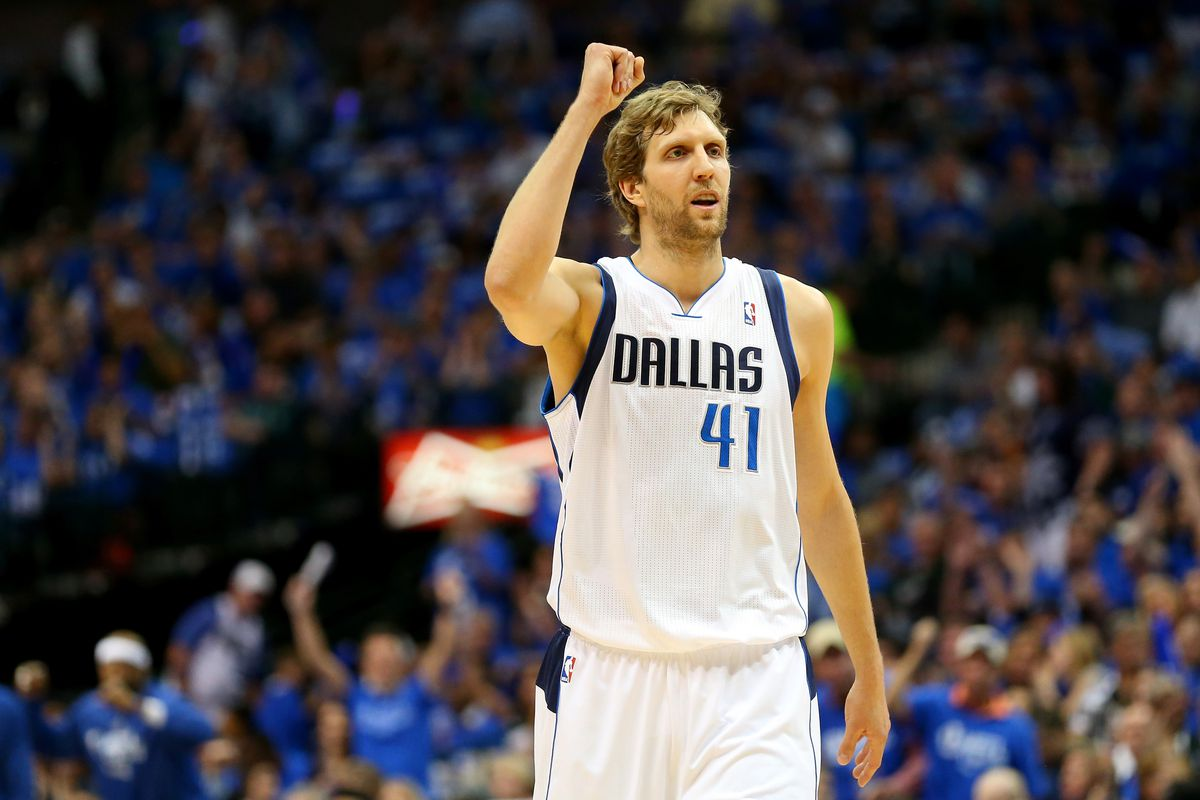 Dirk Nowitzki is back on the saddle in Dallas