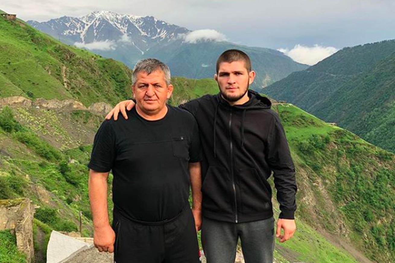 Khabib Nurmagomedov and his father Abdulmanap