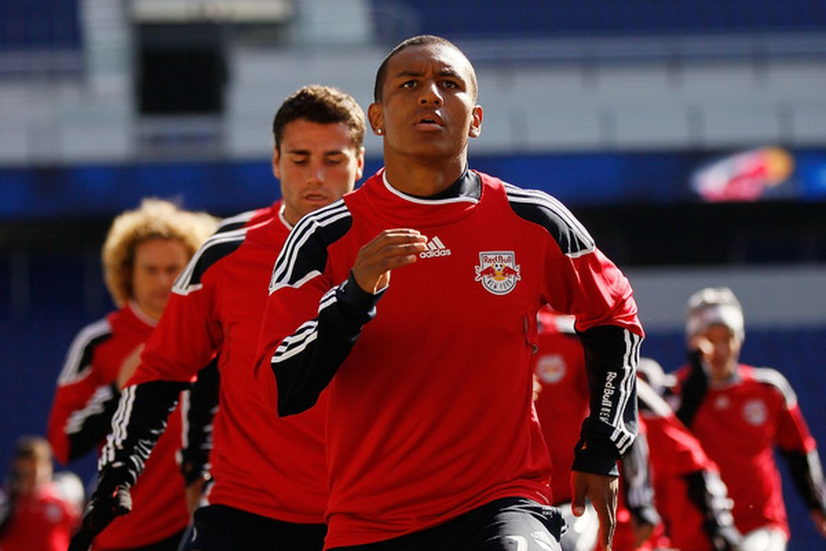 If young starlet Juan Agudelo hadn't yet signed a pro contract with the Red Bulls, he would have played this weekend against FC DELCO and PA Classics. (Photo by Mike Stobe/Getty Images for New York Red Bulls)