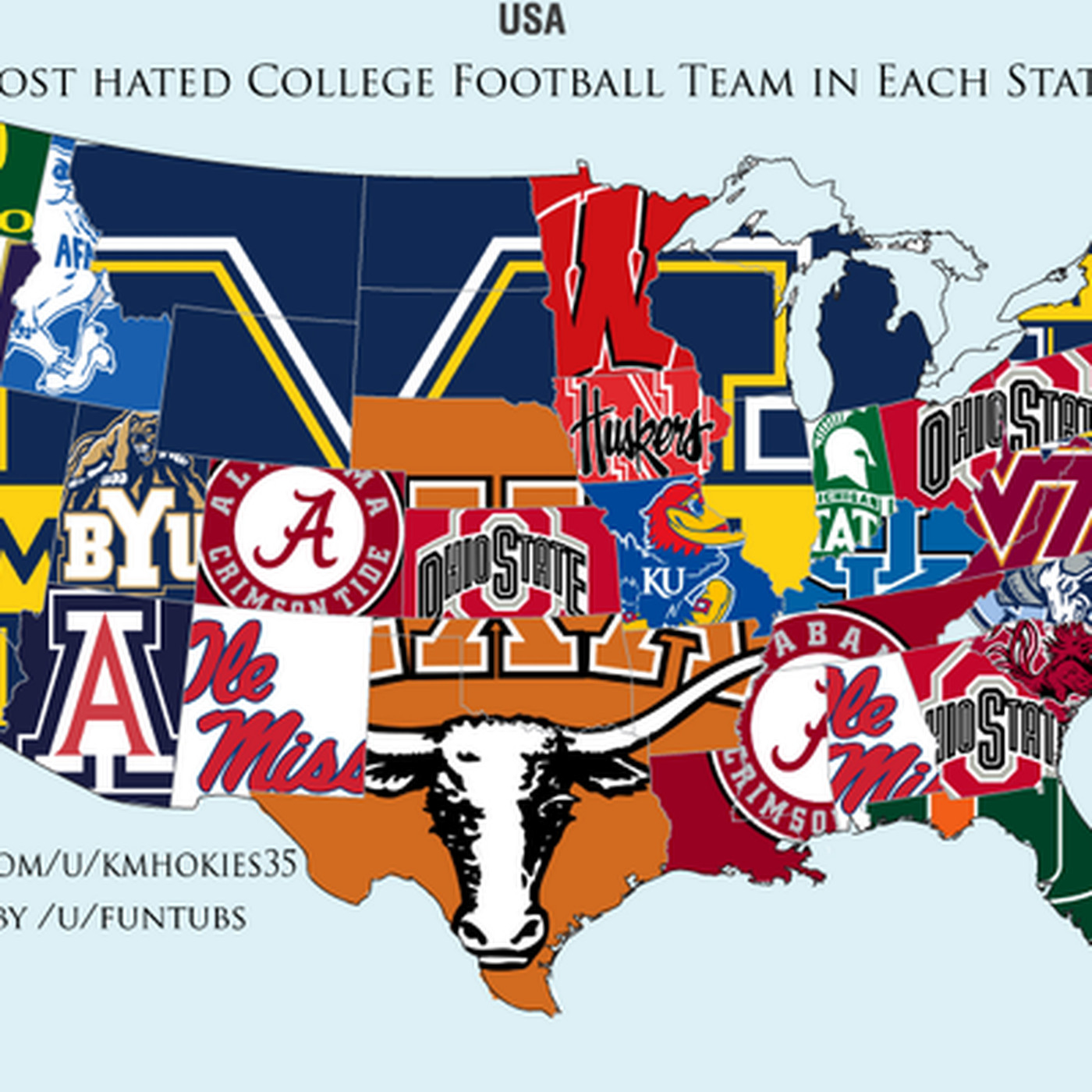 College Football Hate Map: Texas Hates Texas - Good Bull Hunting