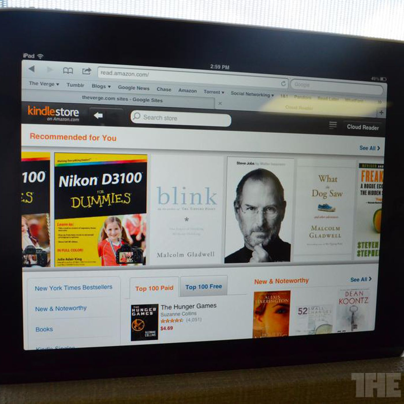 Amazon's Kindle Store and Cloud Reader optimized for iPad use - The