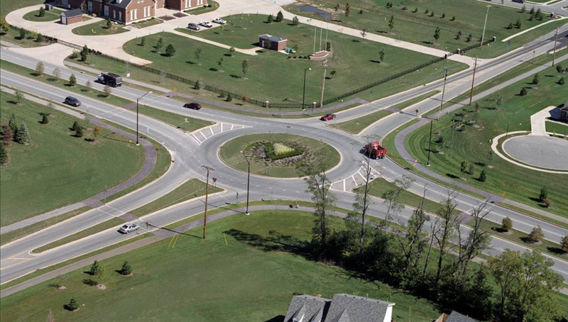 roundabout in Carmel, Indiana