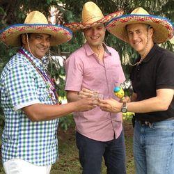 "Floyd Cardoz, John Ragan and Danny Meyer. [Photo: <a href=""http://instagram.com/p/amHtOJDxKw/#"">seequinlan / Instagram</a>]"