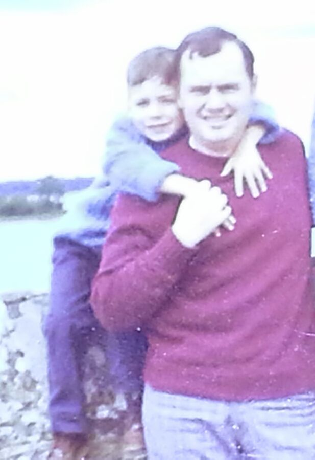 Frank Connor, seen here with his son Joe, was killed on Jan. 24, 1975 by a bomb set off by FALN. / Photo provided