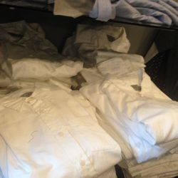 White oxford shirts, two for $50