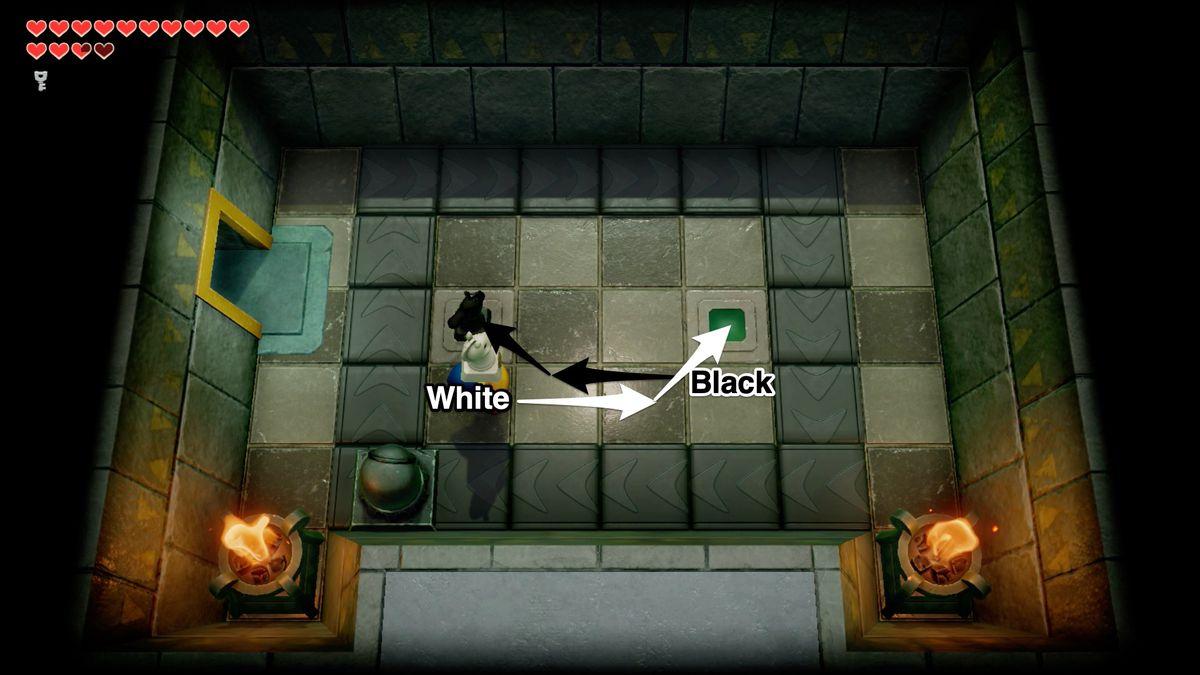 Link's Awakening Eagle's TowerSecret Medicine chess puzzle solution