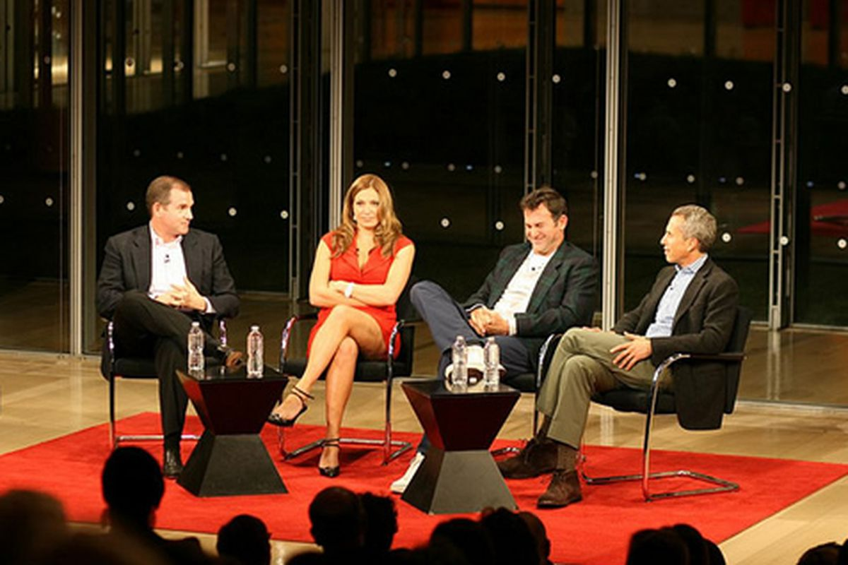 Frank Bruni, Donatella Arpaia, Ken Friedman, Danny Meyer