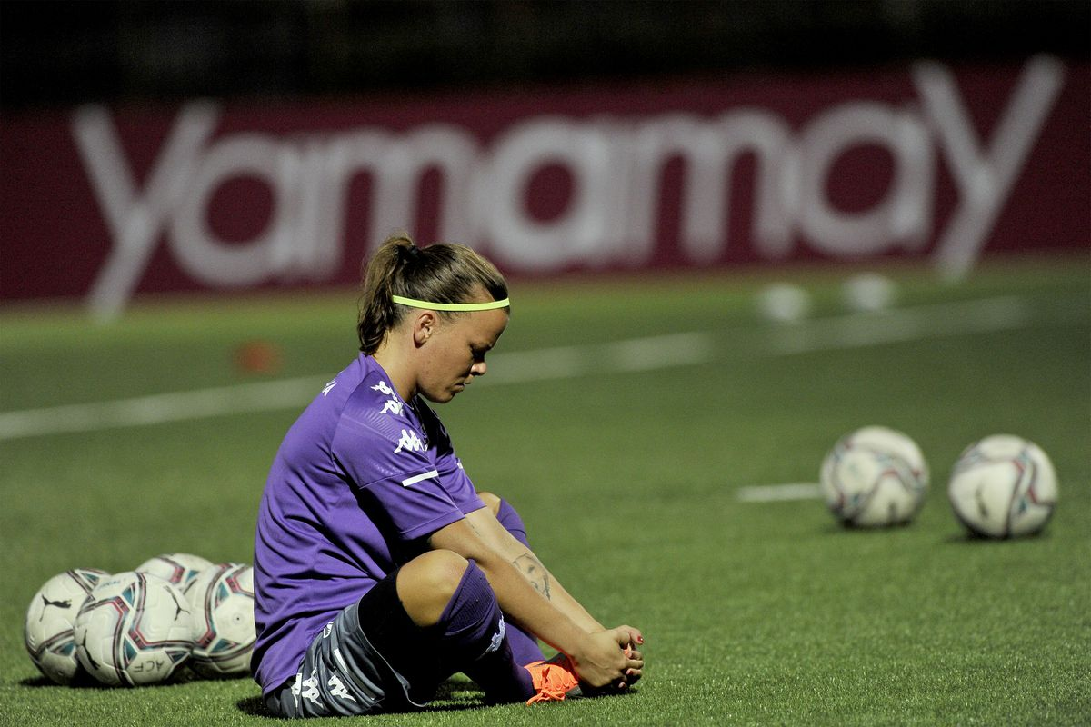 Stéphanie Öhrström goalkeeper of Fiorentina, during the...
