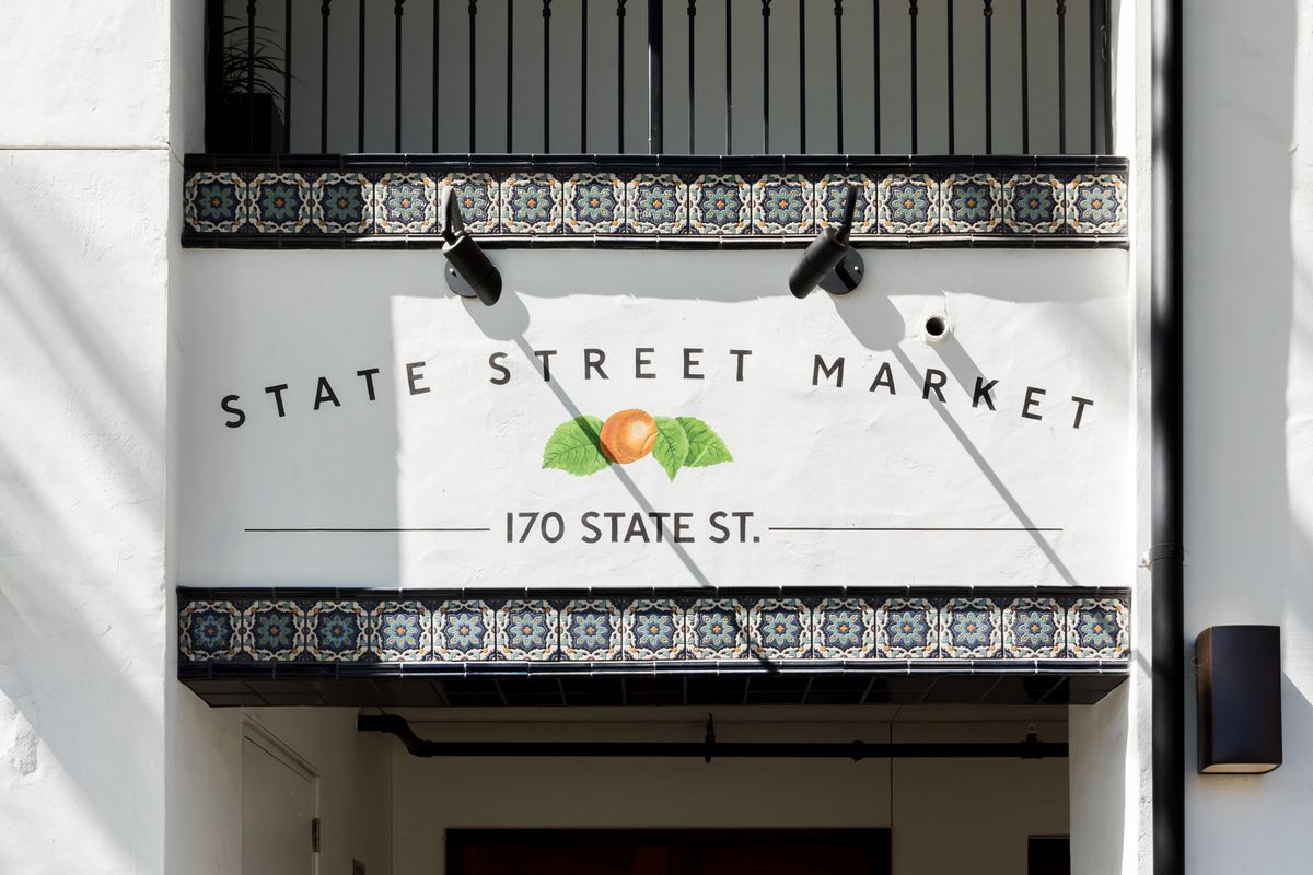 Front sign of State Street Market