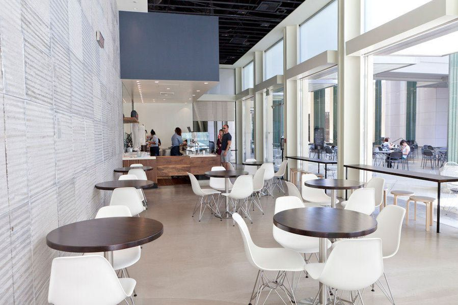 Sleek And Mod Check Out Lacma S C M Coffee Bar Eater La