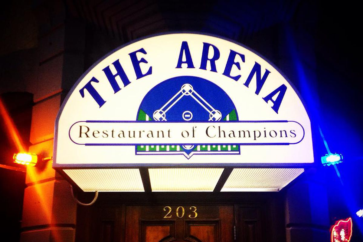 The Arena sign