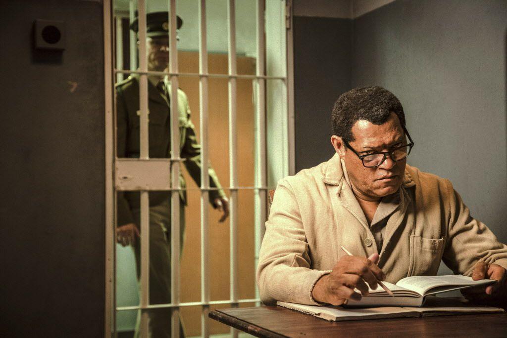 "Laurence Fishburne as Nelson Mandela in a scene from ""Madiba."" (Marcos Cruz/BET via AP)"