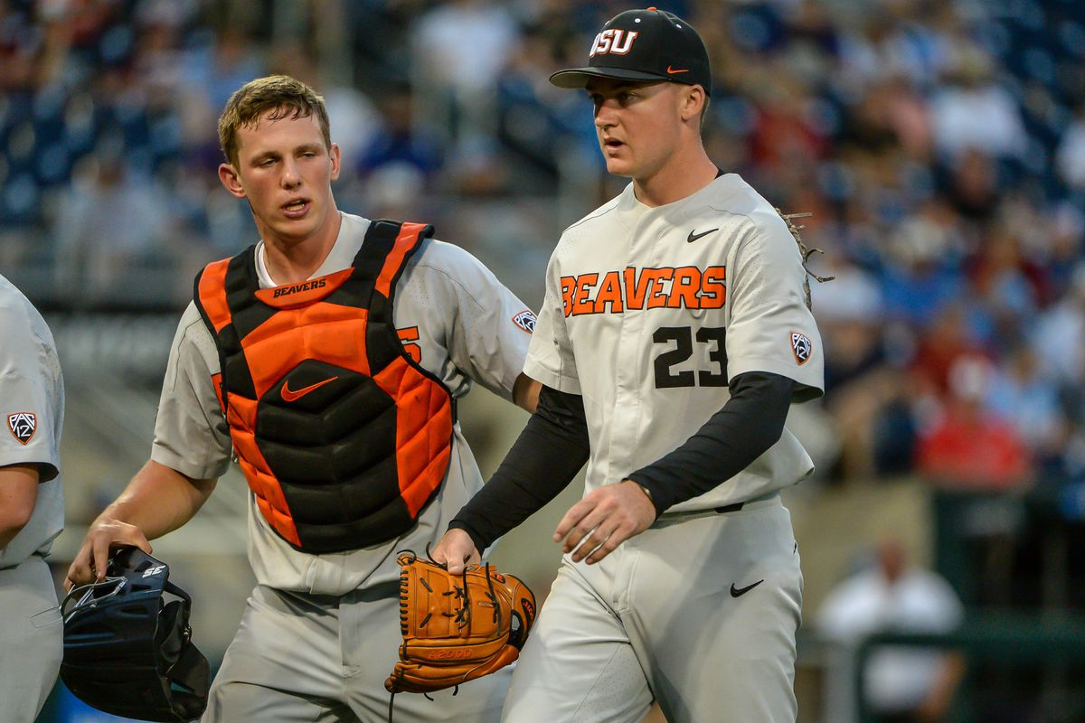 NCAA Baseball: College World Series-Oregon State vs Washington