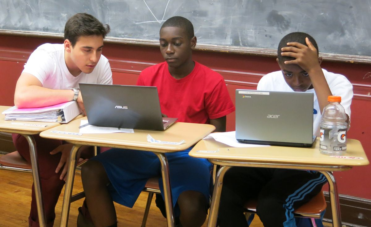 Breakthrough New York added coding classes for its rising ninth graders this summer.