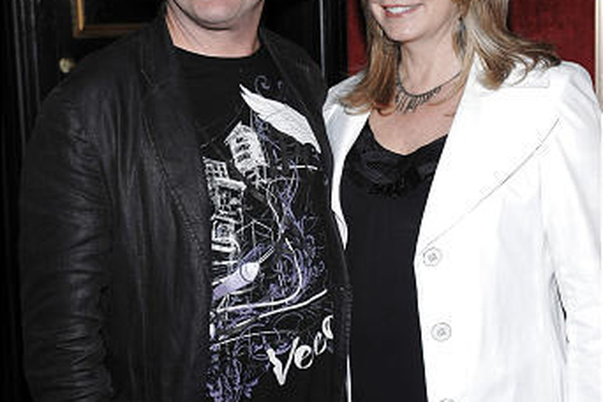 Monkees vocalist Micky Dolenz and wife Donna Quinter attend the 2009 Tribeca Film Festival opening premiere of 'Whatever Works' at the Ziegfeld Theater in New York.