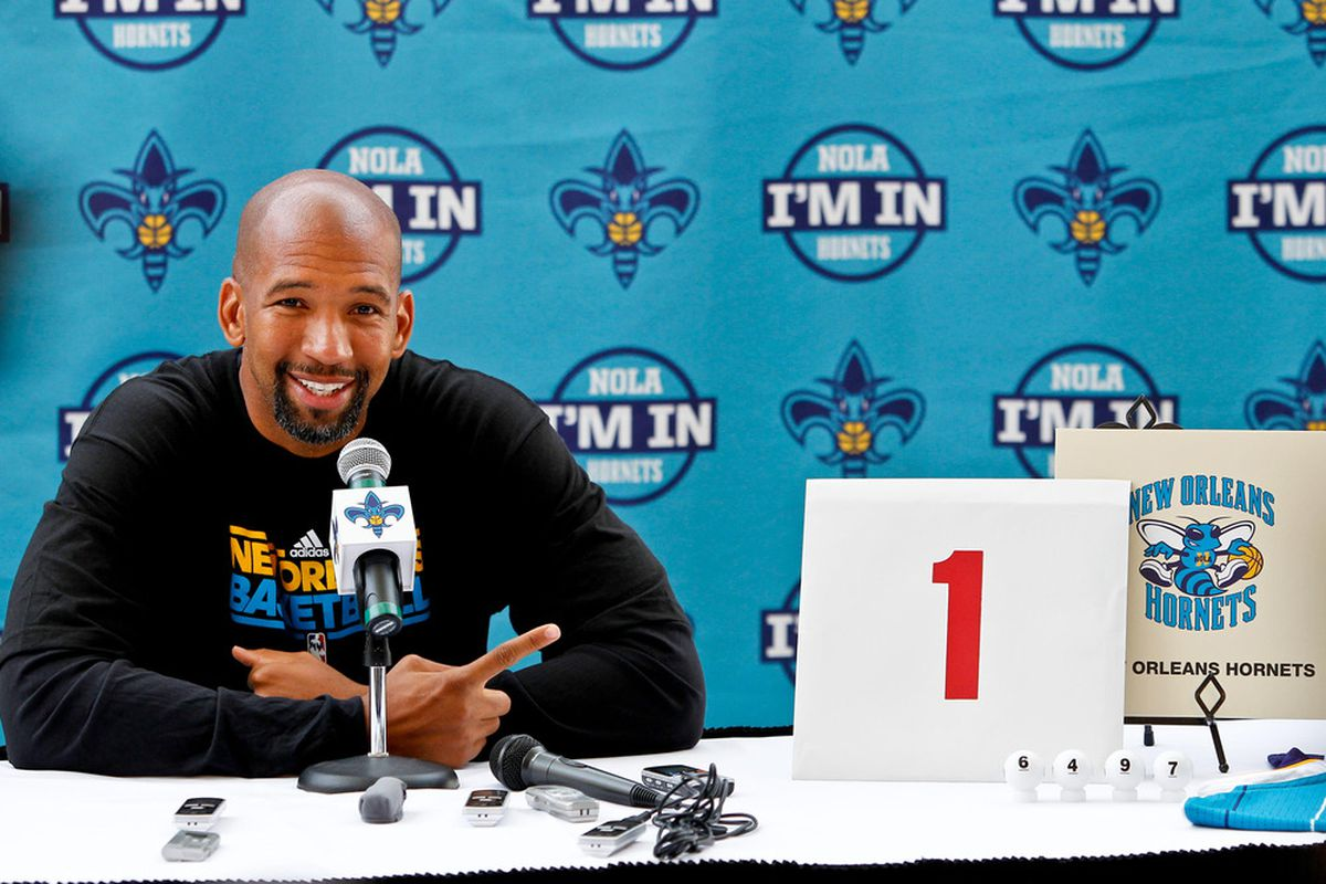 One team will smile later today like New Orleans Pelicans (that's their name now) head coach Monty Williams did here in 2012.
