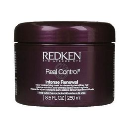 "<b>Redken</b> Intense Renewal Super Moisturizing Mask, <a href=""http://www.redken.com/products/haircare/real-control/intense-renewal"">$18</a> at Redken Saloon"