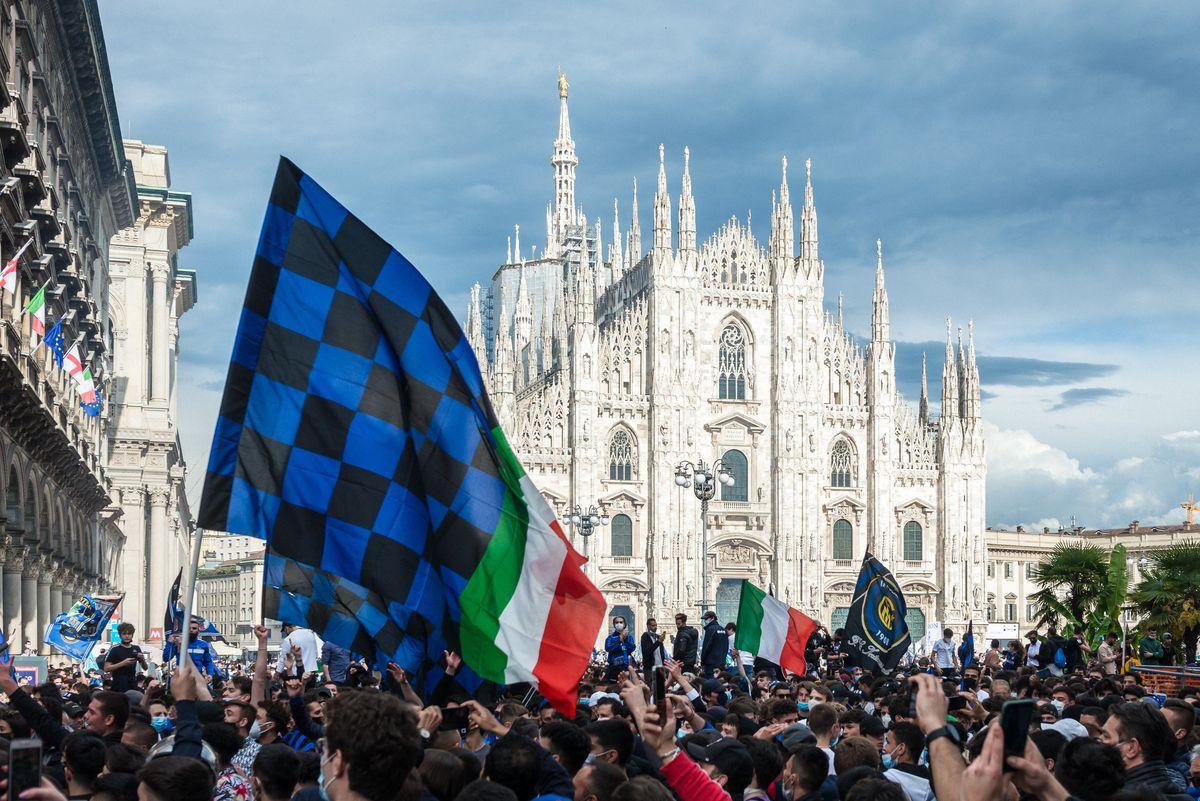 FC Internazionale Fans Celebrate Winnining The Serie A Title