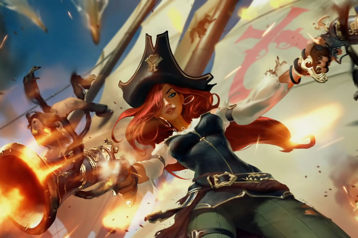 Miss Fortune fires off several shots from her dual pistols
