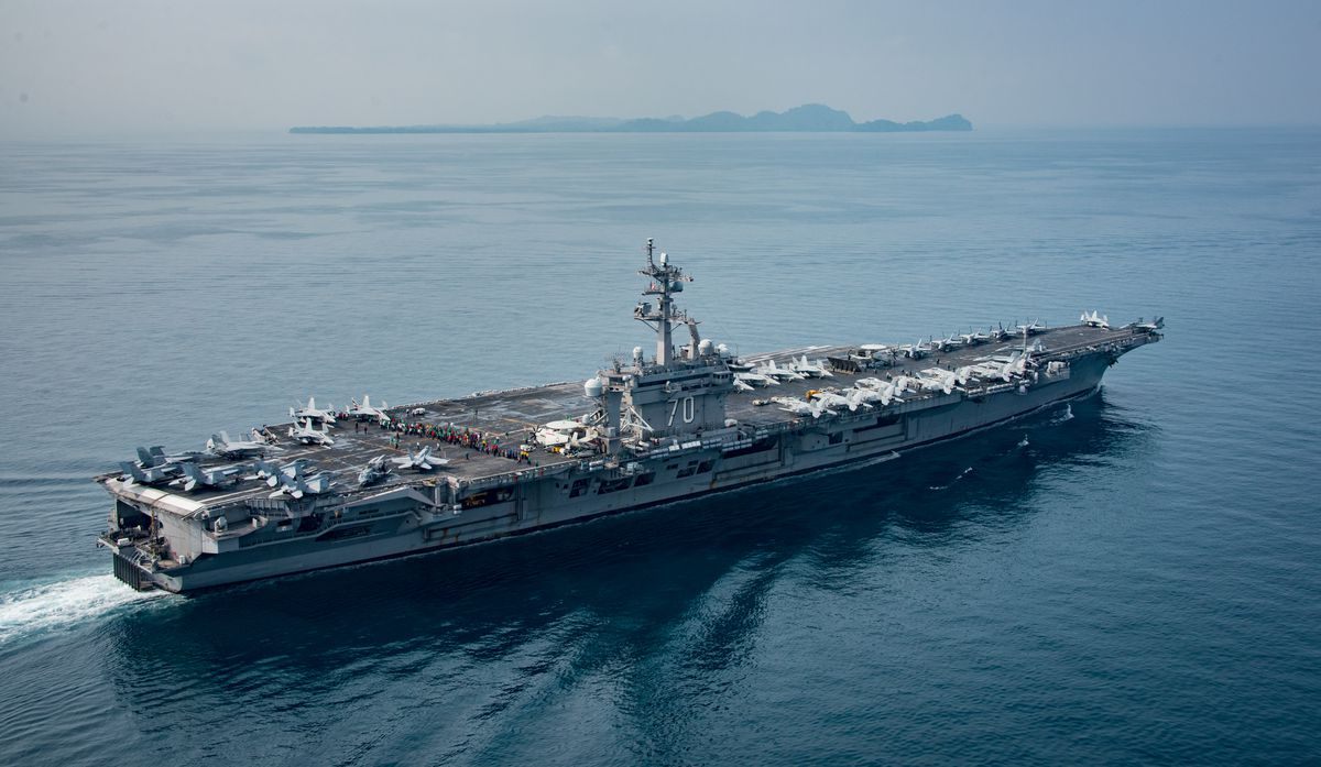 "USS Carl Vinson, which President Donald Trump indicated was part of an ""armada"" heading near North Korea, was in Indonesia on April 15, 2017 on its way to Australia."