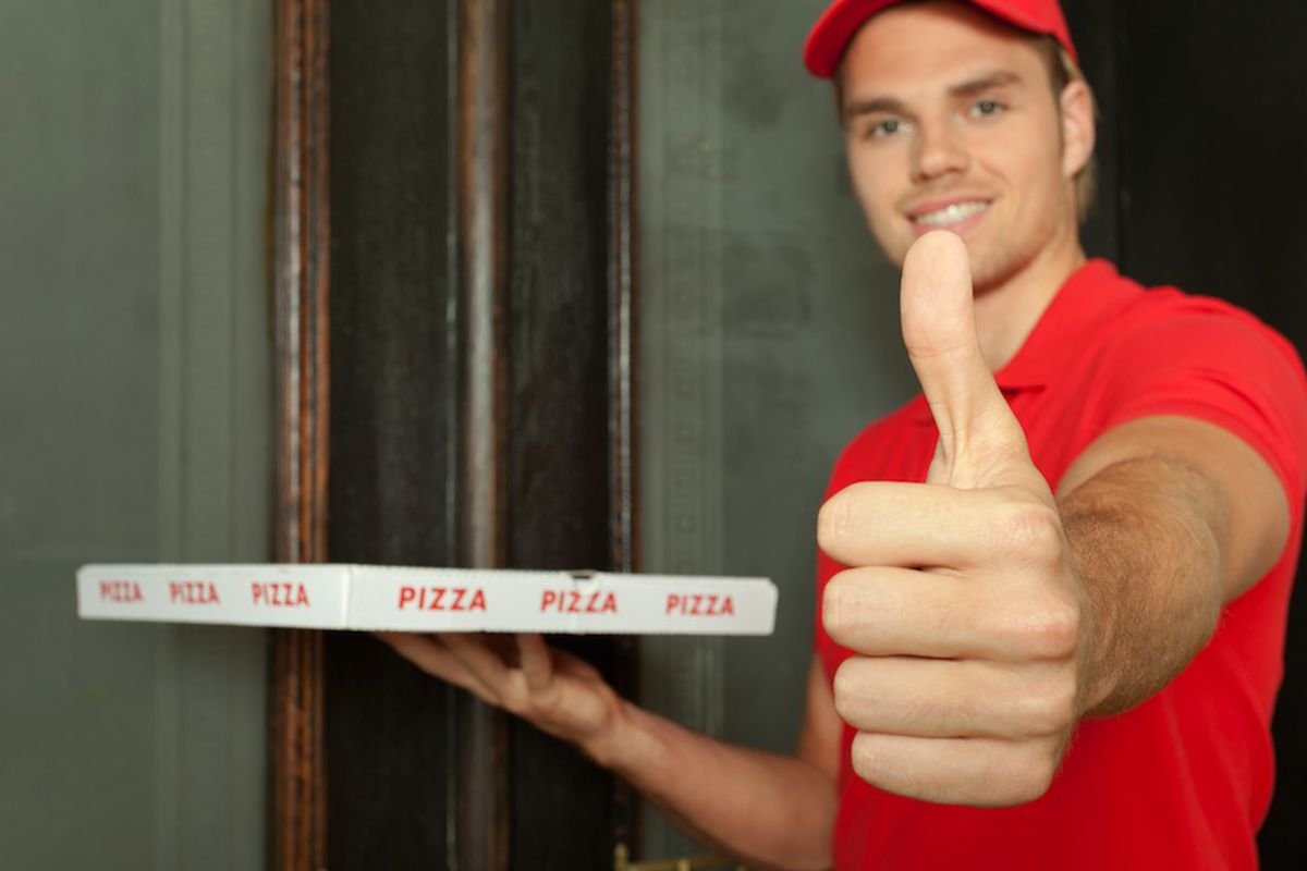 be cool to the pizza delivery dude