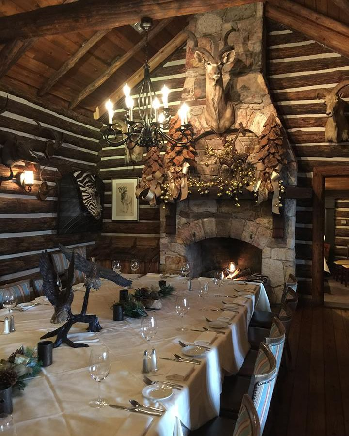 the dining room at rainbow lodge