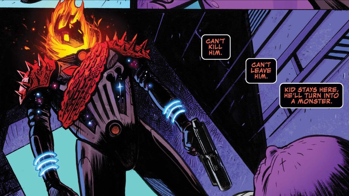 Frank Castle, the Cosmic Ghost Rider, in Cosmic Ghost Rider #2, Marvel Comics (2018).