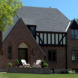This beautiful Tudor home is beautiful on the outside but the interior is in need of some updating.