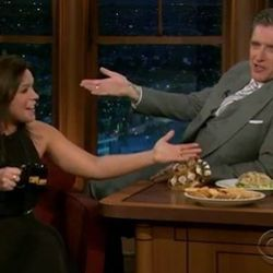 """<a href=""""http://eater.com/archives/2012/08/09/the-nine-best-dirtiest-lines-from-rachael-ray-on-the-late-late-show.php"""">9 Dirtiest Lines From Rachael Ray on the Late Late Show</a>"""
