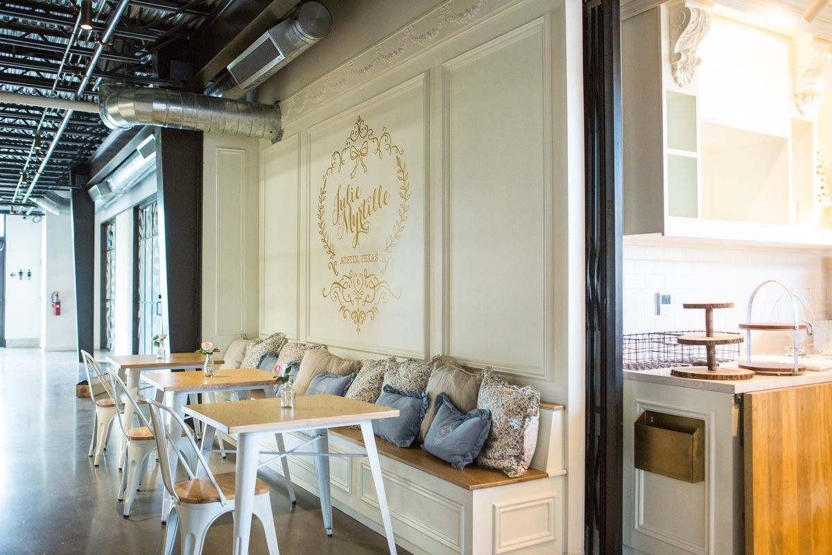 The dedicated seating at Julie Myrtille Bakery