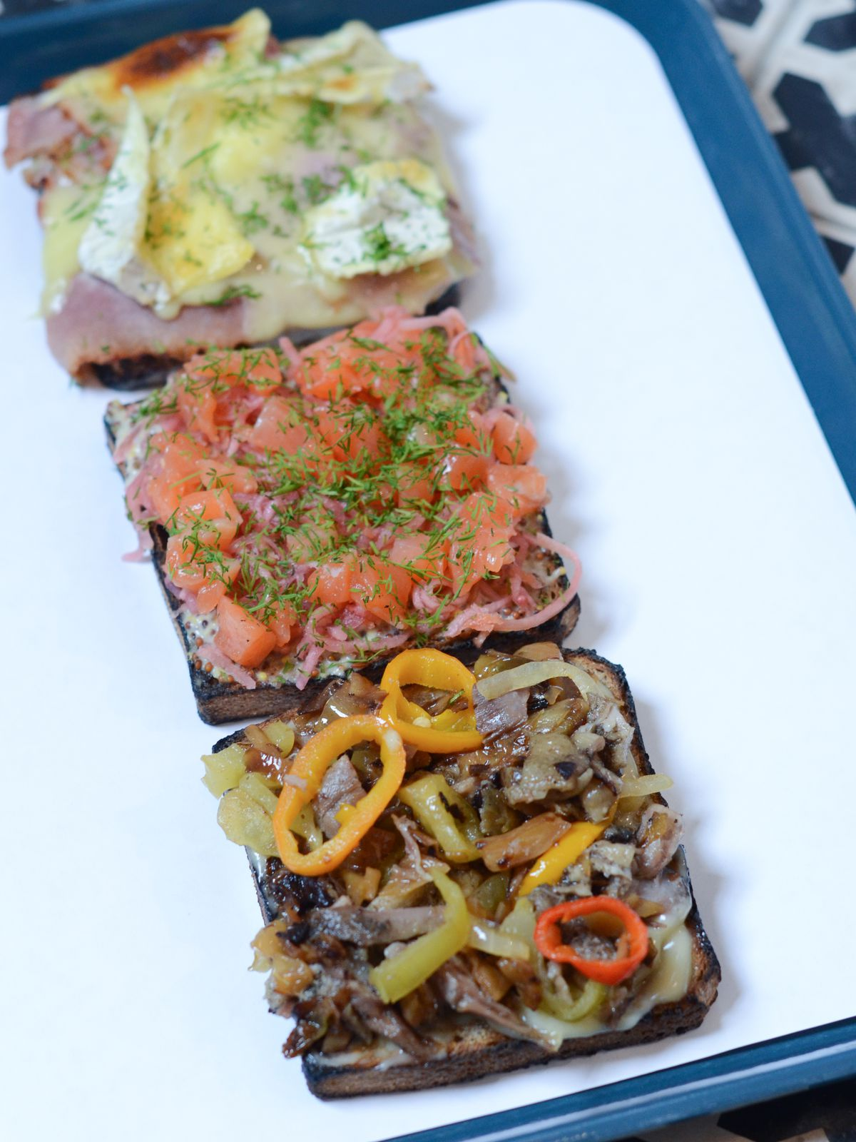 Open sandwiches. Photo by Stephanie A. Meyer