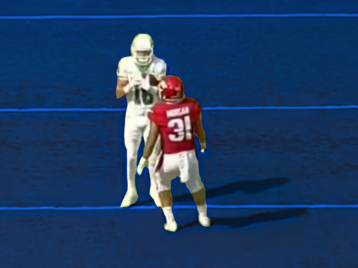 official photos 0d030 3abd8 North Texas' FAKE FAIR CATCH trick play, explained by the ...