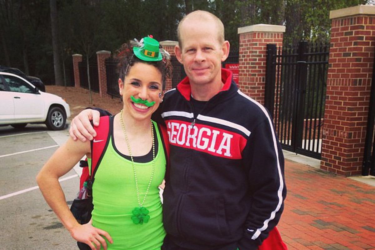 Happy St. Patrick's Day from Noel Couch, Coach Phil Ogletree, and all the Gym Dogs!