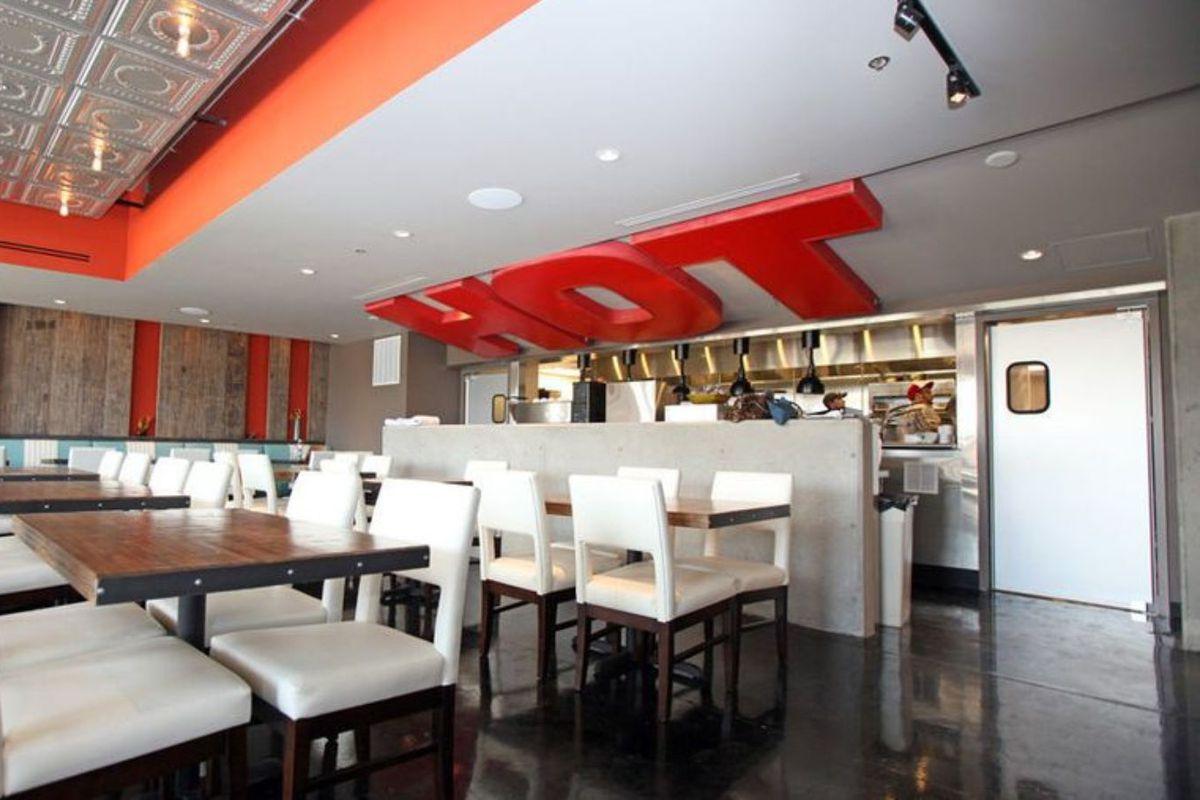 Interior bistro dining room