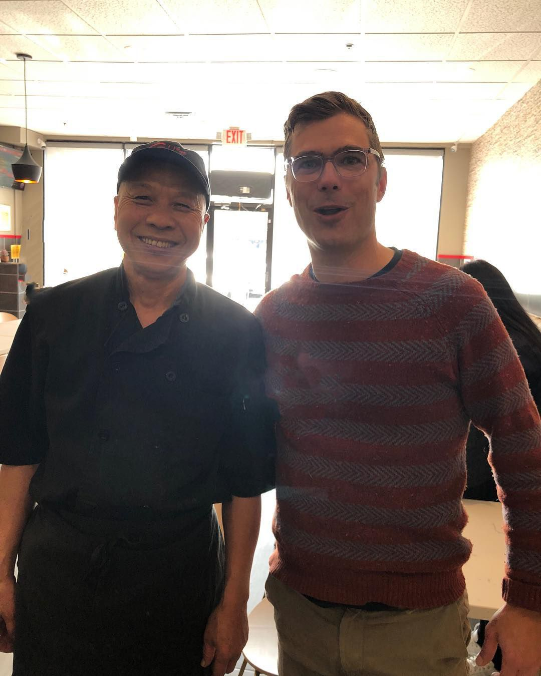 Chef Gu and chef Hugh Acheson at Gu's Kitchen on Buford Highway